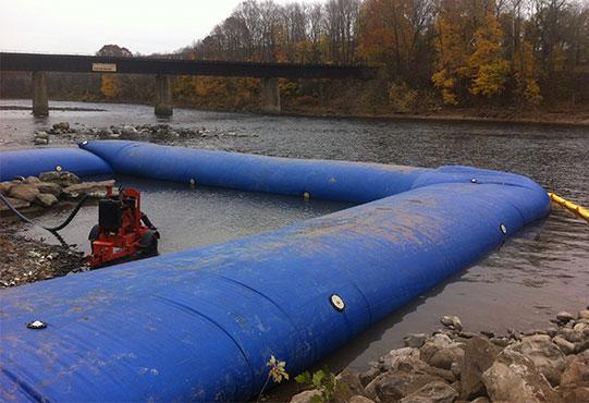 Water Inflated Cofferdam Detroit Tarp