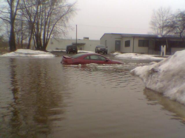 Snow Melt Cofferdam Flood Protection Detroit Tarp
